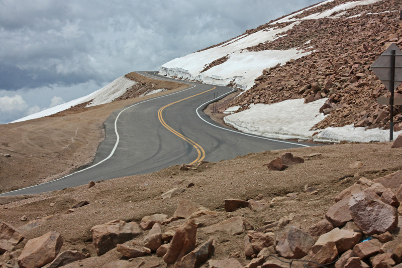 view from Pike's Peak cog railway - the other way to get up