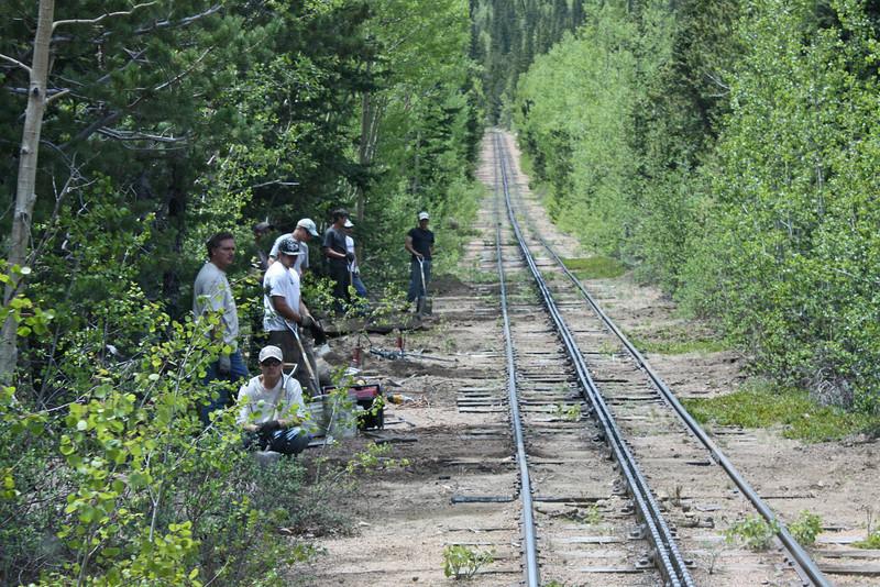 Pike's Peak cog railway - the track crew