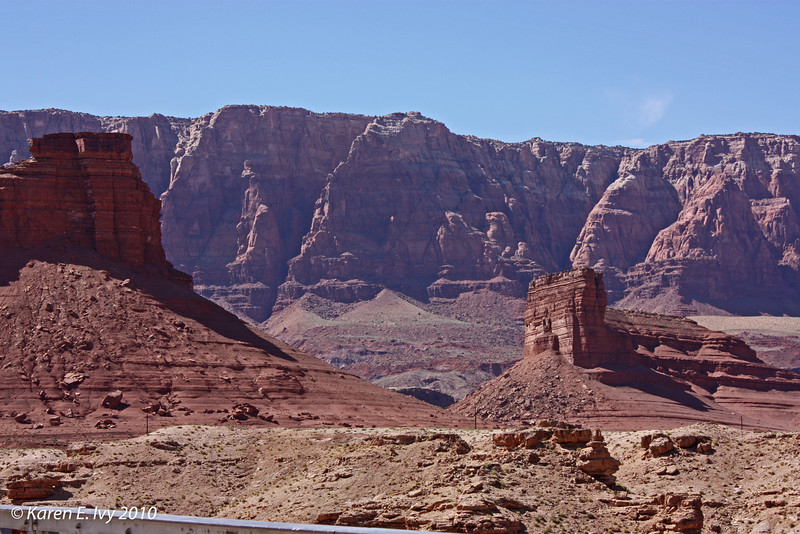 Across the Colorado River below Glen Canyon Dam - from Navajo Bridge