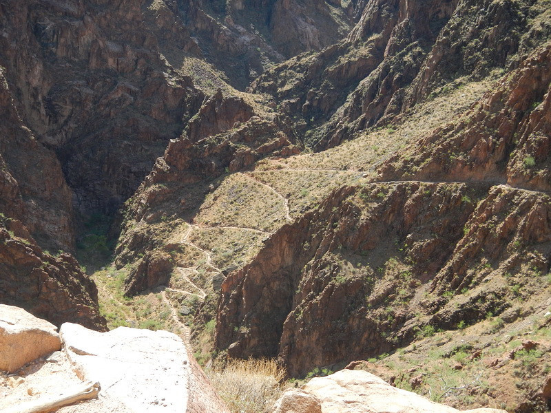 An area called the Corkscrew. You can see the trail way below.