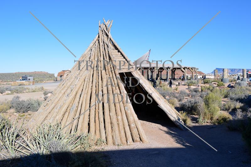 Log tent at Arizona's Grand Canyon West Rim.