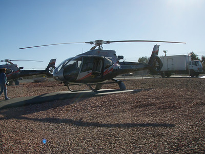 Helicopter for tour of Grand Canyon, Las Vegas, 3.08