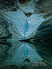 Yoni Symbol, Small Waterfall Flowing into Pool, North Canyon, Grand Canyon National Park, Arizona, USA, North America