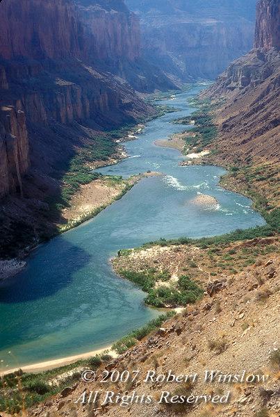 Colorado River at Nankoweap, Grand Canyon National Park, Arizona, United States, North America