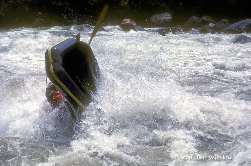 Raft Flipping in Lava Falls Rapid, Colorado River, Grand Canyon National Park, Arizona