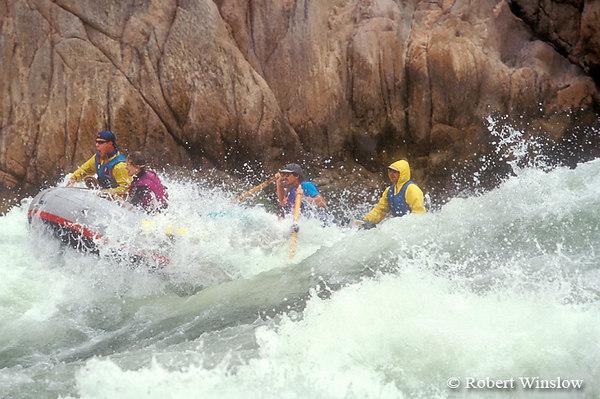 Model Released, White-water Rafting, Granite Rapid, Colorado River, Grand Canyon National Park, Arizona