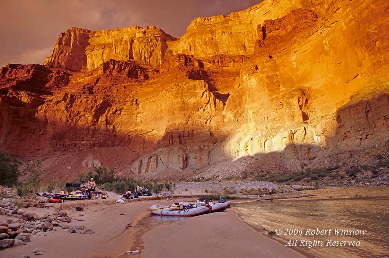 Camp at Nankoweep, Colorado River, Grand Canyon National Park, Arizona, USA, North America
