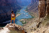 Model Released, Female Hiker, Nankoweap, Colorado River, Grand Canyon National Park, Arizona, USA, North America