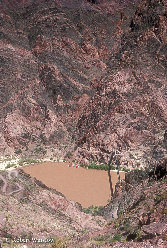 Kaibab Bridge, Kaibab Trail, Colorado River, Grand Canyon National Park, Arizona