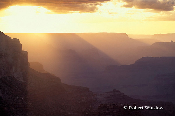 Sunset from Yavapai Point, South Rim, Grand Canyon National Park, Arizona, United States, North America