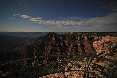 First evening at the North Rim.  We arrived at dusk and missed sunset, but the new 5D MIII with the 14mm Rokinon proved fantastic for capturing the moon-lit canyon walls.
