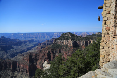 View of the South Rim from the North Rim Lodge porches