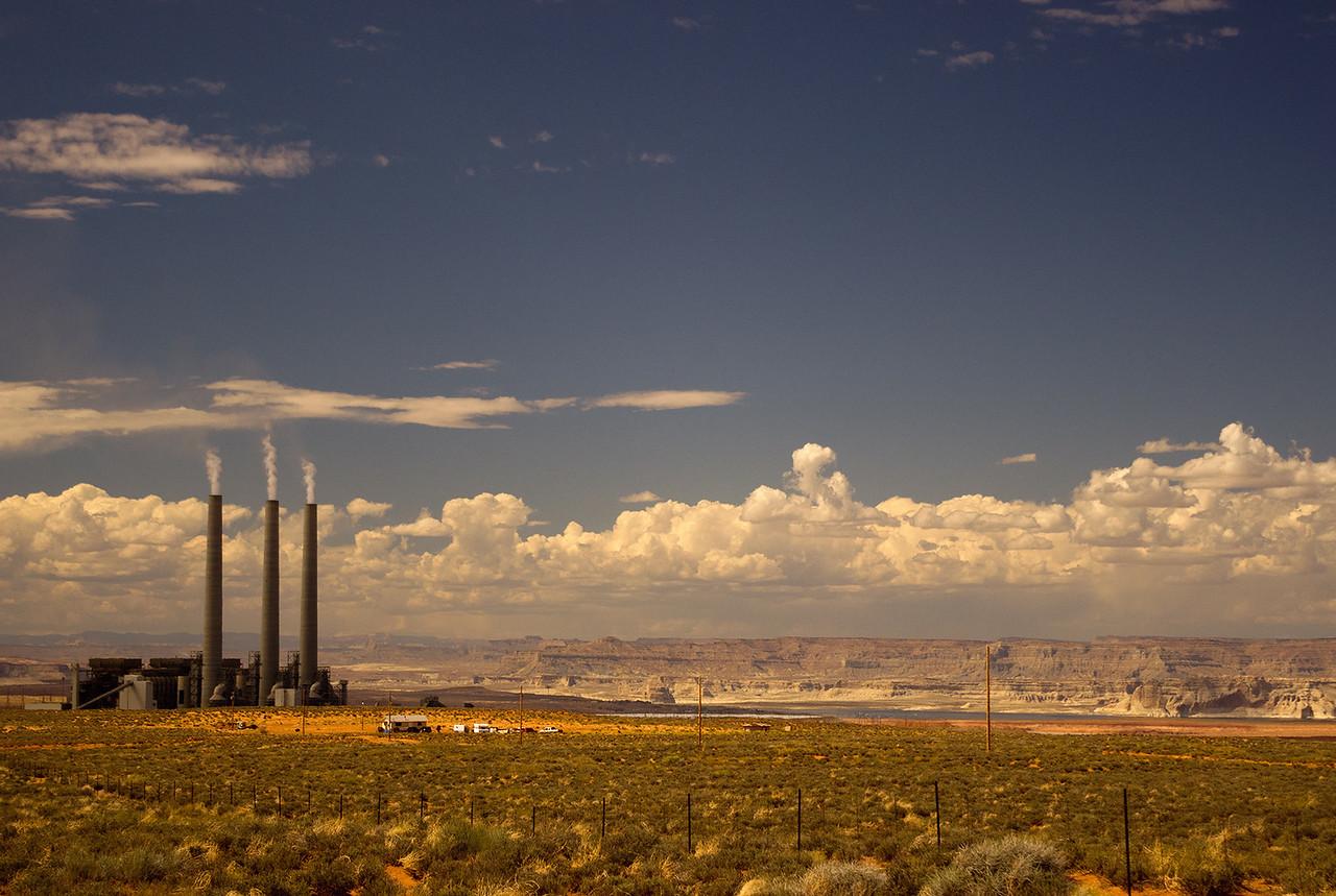 The Navajo Generating Station near Lake Powell and the Arizona-Utah state line.