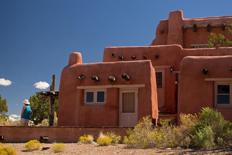 Painted Desert Inn, a National Historic Landmark within Petrified Forest National Park, Arizona.