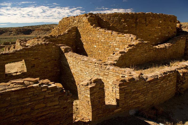 Ruins at Chaco Culture National Historic Park, New Mexico. May be Chetro Ketl, but I'm not sure.