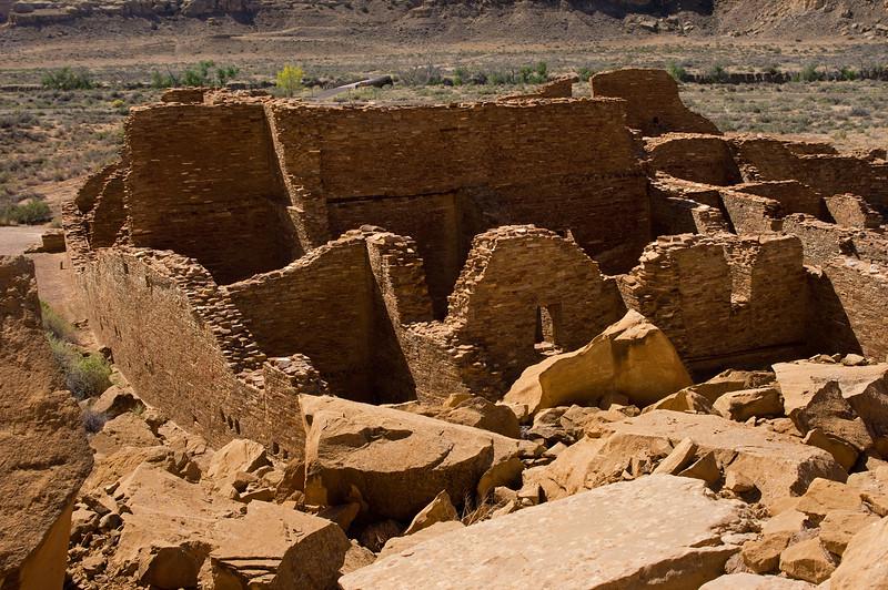 Pueblo Bonito ruins, Chaco Culture National Historic Park, New Mexico.