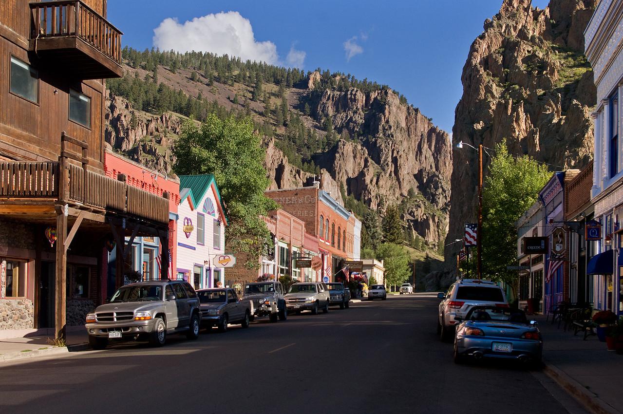 Shops along the street, Creede, Colorado.