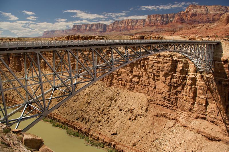 Navajo Bridge - Arizon 89A crosses the Colorado River in the Glen Canyon Recreation area.