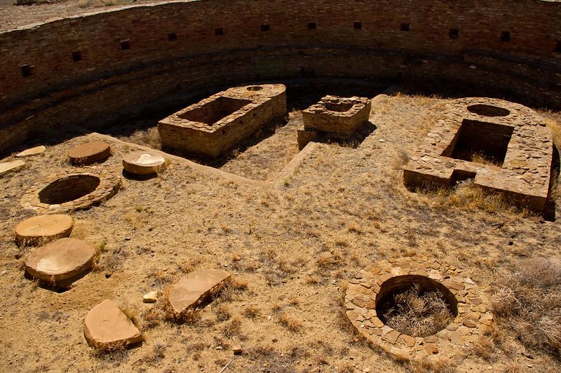 Kiva ruins at Chetro Ketl, Chaco Culture National Historic Park, New Mexico.