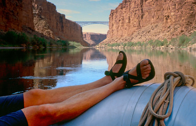 We get to relax along the quiet stretches while the guides pull the wood oars.