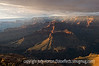 Grand Canyon, South Rim, near sunset at Hopi Point, with a light mist/snow falling over some parts of the canyon