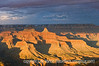 Grand Canyon, Hopi Point, South Rim, near sunset with a snow falling over the canyon; best viewed in the largest sizes, in which you can see the snow