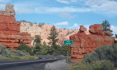 Highway 12 10 miles west of Bryce Canyon. October 1