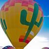 Dawn  hot air balloon ride over Phoenix (trip start).