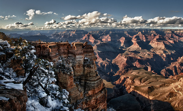Mather Point, after March snowstorm. Afternoon shot looking west.