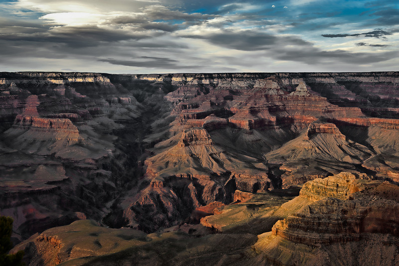 Bright Angel Canyon, late afternoon.