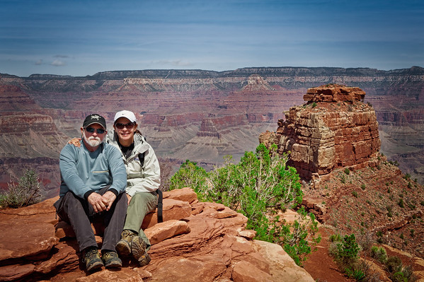 John & Gloria on S. Kaibab trail