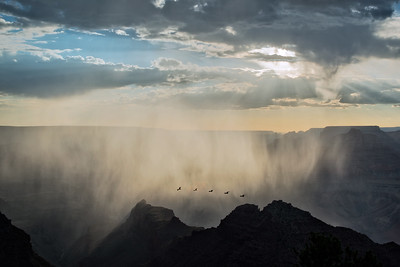 Rain storm within the canyon