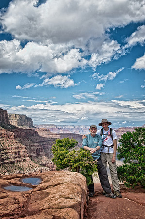 Haley & the old man on South Kaibab, just before getting pounded by a thunderstorm.