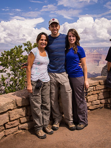 Gloria, Haley and his gal Rosemary, all looking pretty good before the hike.