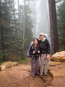 0630 the morning of the hike, foggy and damp.