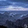 It was a dark and stormy night on the North Rim, the night before the hike.