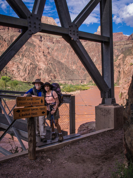 John and Glo exiting the bridge. This is 14 miles into the hike, 9 miles more to go.