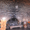 A marvelous fireplace in a lodge now 100 years old at the Hobbit's Trail.