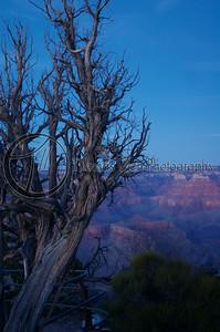 Sunset over the Grand Canyon. Grand Canyon, Arizona.