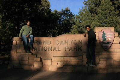 Ullas and me at Grand Canyon Entrance