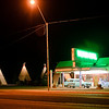 WIgwam Motel.  An old Route 66 landmark - still rents.  About 50 a night.  One couple showed us the rooms - quite small, but with all of the basic amenities.