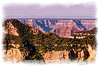 A view looking across the Grand Canyon from the North Rim in Arizona