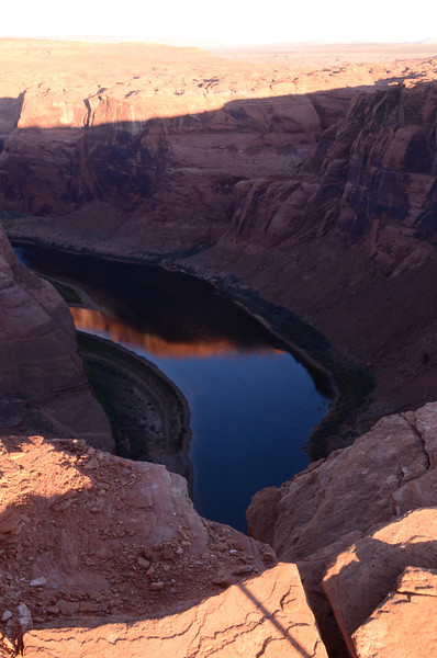 Horseshoe Bend in Page, AZ at sunrise.