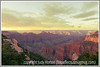 The early morning sun hits formations below the North Rim of the Grand Canyon in Utah