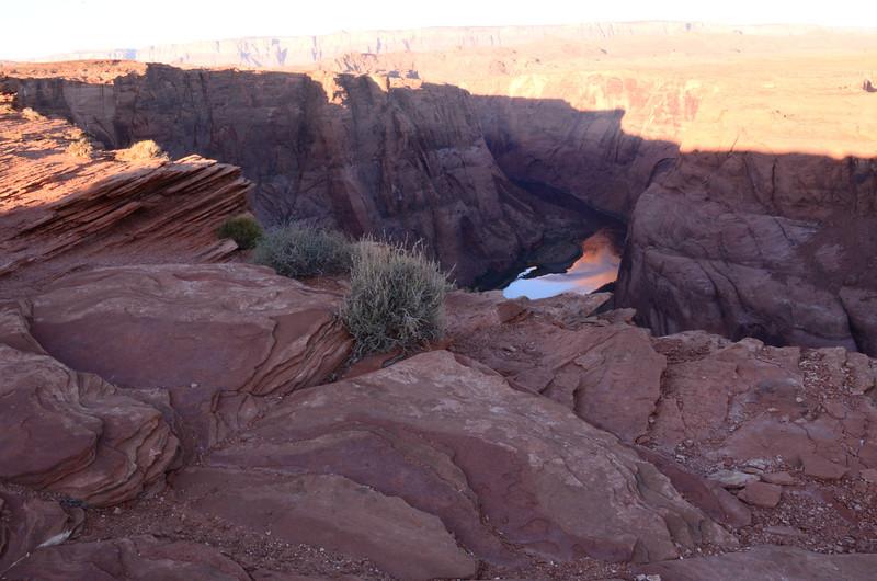 Horseshoe Bend in Page, AZ at sunrise.