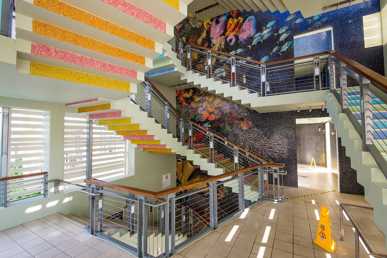 Stairs to viewing platform in Camana Bay, Grand Cayman - November 2013