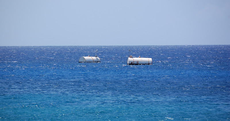 Fuel Tanks offshore, lead to some huge on-shore tanks next door...