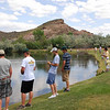 San Jac Gator baseball players enoyed fishing at the team barbecue that the Grand Junction Lions Club staged for the team on Memorial Day.