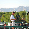 Keith Hudson, guru of video & photography, capturing some stunning footage from the top deck of the press box at the JUCO World Series in Grand Junction.
