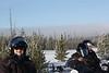 Susan, Dan and Doreen on their snowmobiles.
